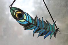 Glass Peacock Feather