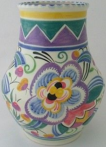 Early Poole Pottery Small Bowl Floral Pattern circa 1950/'s