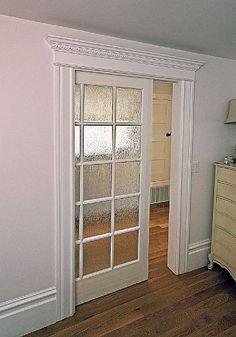 Gl Pocket Door For The Craft Room External Sliding Doors Wooden Front