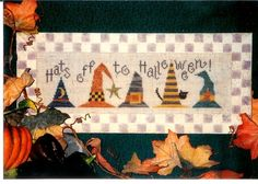 Hats Off To HALLOWEEN  Counted Cross Stitch Pattern by SaGranny, $2.95