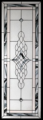 Stained Glass Door Inserts - Rosetta 22x64 Stocked by Randal's Wrought Iron & Stained Glass serving the Greater Toronto Area and surrounding areas.