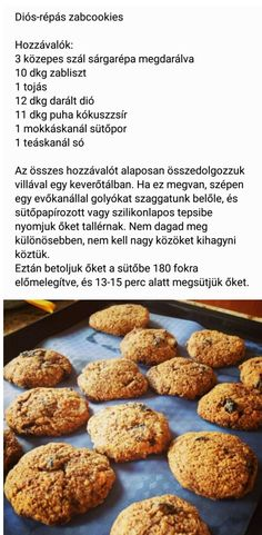 Sós zabcookies Diabetic Recipes, Diet Recipes, Healthy Recipes, Sugar Free Diet, Health Eating, Healthy Cookies, Fitness Diet, Fitt, Clean Eating