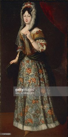 View top-quality stock photos of Portrait Of Noblewoman From Gonzaga Period. Find premium, high-resolution stock photography at Getty Images. 17th Century Fashion, 18th Century, Antique Clothing, Historical Clothing, Mode Renaissance, Baroque Dress, Old Portraits, Period Outfit, Baroque Fashion