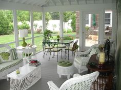 The Classic Maine Waterfront Camp - The Screened Porch