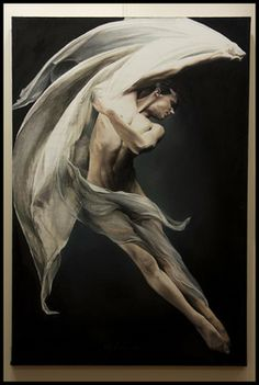 "Beautiful sense of motion and light. Saatchi Online Artist Yigit Dundar; Painting, ""DANCER IN THE DARK"" #art"