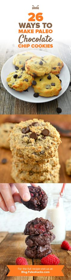 Chocolate chip cookies are everyone's favorite treat. Buttery cookies studded with chocolate chips are a can't-miss combo and we've discovered 26 different Paleo chocolate chip cookie recipes – without taking a hit on your health. Get all the recipes here: http://paleo.co/paleochcookies