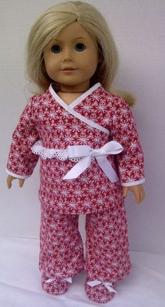 American Girl Doll Clothes Pajamas by PixieandLackie on Etsy, $16.00