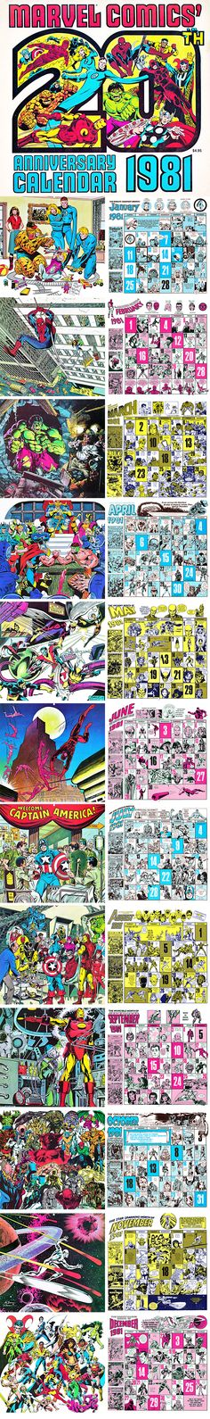 1981 Marvel Comics Calendar Perfectly Align with 2015 The best calendar for 2015…