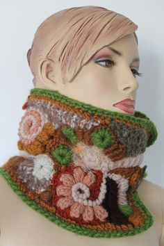 Chunky Knit    Freeform Crochet Cowl Scarf   Neck by levintovich, $80.00