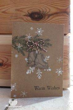 Magical Scrapworld: Warm Wishes, Stampin' Up!, Christmas card, winter wishes, Holly Jolly greetings, Snow place