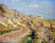 Claude Oscar Monet The Road to Giverny hand painted oil painting reproduction on canvas by artist Monet Paintings, Impressionist Paintings, Paintings For Sale, Landscape Paintings, Landscapes, Claude Monet, Pierre Auguste Renoir, Artist Monet, Portraits