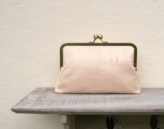 Nude clutch nude bridal clutch bag peach by ConstanceHandcrafted