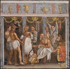 Mosaic from the house of Tragic Poet, Pompeii. 1st century CE. Now at the Museo Nazionale di Napoli.