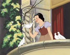 snow white in rags