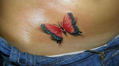 Female Tattoo - Top Unique Ideas for 3D Butterfly Tattoos  - 3D Butterfl...