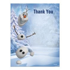 Frozen Olaf Thank You Custom Invitation