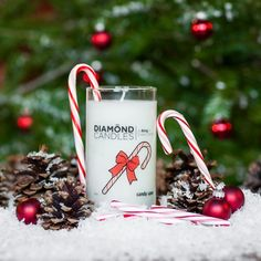 Grab those stockings; you're gonna want to fill every one with a sweet and minty Diamond Candle.
