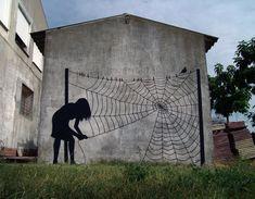 Waslijn spinnenweb