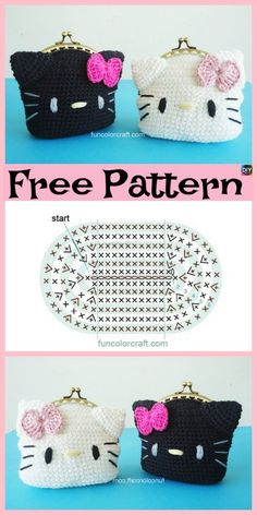 Hello Kitty Crochet Pattern Cute Crochet Hello Kitty Purse Free Patterns Diy 4 Ever Hello Kitty Crochet Pattern Free Hello Kitty Crochet Pattern Crocheted Suzy Dias Pattern. Hello Kitty Crochet Pattern Hello Kitty Ballerina Crochet Th. Purse Patterns Free, Crochet Purse Patterns, Free Pattern, Knitting Patterns, Sewing Patterns, Hello Kitty Crochet, Hello Kitty Purse, Hello Kitty Themes, Hello Kitty Images