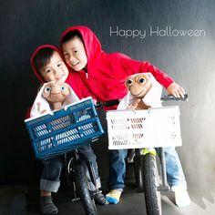 E.T. costumes in Japan 友達家族とハロウィン撮影会。可愛い写真たっくさーん♡ふじこさーん、ありがとー♡