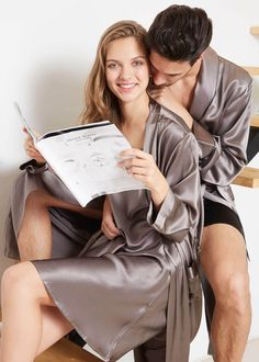 Pyjamas, Mens Silk Pajamas, Silk Robe Long, Silk Nightgown, Cute Love Couple, Nightgowns For Women, Satin Dresses, Mulberry Silk, Silk Satin
