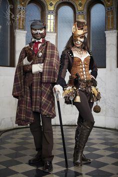 First Annual MYTH Masquerade Ball ~ 'Sherlock Owlmes & Dr. Foxson'   Photo: Daniel Bergeron   www.mythmasque.com   www.facebook.com/mythmasque