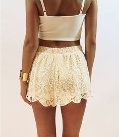 pretty shorts. lace is nice.