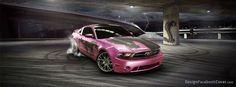 pink 2012 ford mustang | 15 Araba Temalı Facebook Kapak Fotoğrafı | Teknoloji