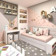 Want to Present the Greatest Girl& Bedroom for Your Daughter? The girls bedroom is her castle. Now getting time to talk a strategy to come up with the wonderful room theme. Here are the girl's bedroom ideas for you. Bedroom Wall Colors, Bedroom Themes, Bedroom Yellow, Yellow Walls, White Walls, Pink Bedroom Walls, Taupe Bedroom, Bedroom Carpet, Bedroom Styles