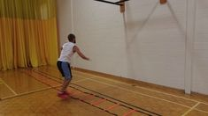 Alternate feet lunging in and out of agility ladder while striking a badminton bird. Badminton Drills, Agility Ladder Drills, Net Games, Physical Education, Lunges, Fitness, Physical Education Lessons, Physical Education Activities, Gymnastics
