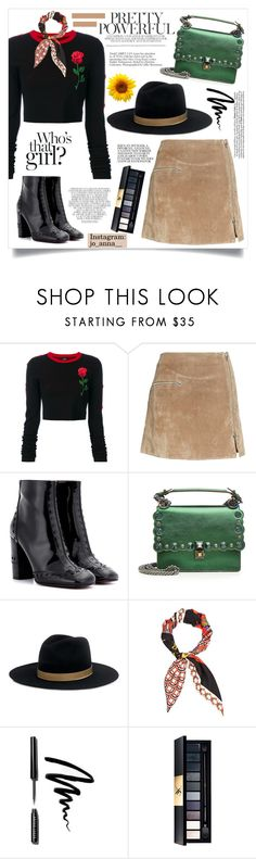 """""""Pretty powerful"""" by anchilly23 ❤ liked on Polyvore featuring County Of Milan, BLANKNYC, Chloé, Fendi, Janessa Leone, Gucci, Bobbi Brown Cosmetics, John Lewis and Whiteley"""