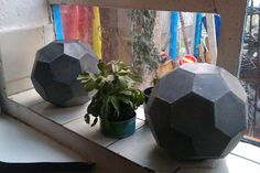Concrete Bucky ball by geometrixcity on Etsy, £40.00