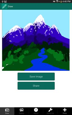 This app is an awesome tool to create drawings on your own and share them with your friends.