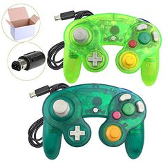 Special Offers - Koalud 2 Packs Classic Wired Gamepad Controllers for Wii Game Cube Gamecube console(Moss green and Deep green) Review - In stock & Free Shipping. You can save more money! Check It (October 31 2018 at 09:07PM) >> gamingheadsets.in...