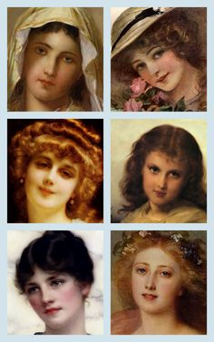Magic Moonlight Free Images: Beautiful Faces ! Free Collages images for you!
