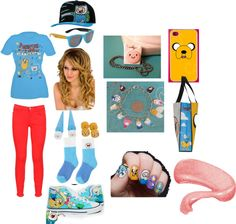 """""""Adventure Time Outfit"""" by thaliagarcia ❤ liked on Polyvore"""