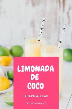 Cómo hacer limonada de coco fácil y rápido. No te compliques con la receta de limonada de Coco. en Tropicalbox ya la tenemos lista. Esto es para ti si:  No sabes que dar cuando tienes visita? Quieres probar limonada de coco de restaurante? Te gusta la limonada de coco pero no quieres descifrar la receta? Recipies, How To Get, Coffee, Blog, How To Make, Drinks, Restaurants, Recipes, Coffee Cafe