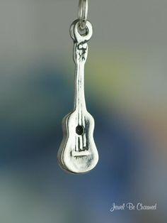 Ukulele Charm Sterling Silver Uke Hawaii Musical Instrument Music