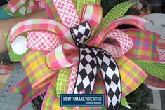 Expand your skills! This tutorial uses the EZ Bow Maker and shows you how to make a Terri Bow you'll love in less than 10 minutes! Diy Bow, Diy Ribbon, Ribbon Bows, Ribbons, Ribbon Crafts, Hair Bow Tutorial, Wreath Tutorial, Making Bows For Wreaths, Wreath Making