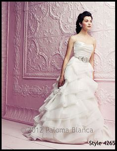 First Paloma Blanca gown from the 2012 Premier collection to arrive at salon.