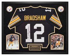 5b12f97cd Terry Bradshaw Pittsburgh Steelers Autographed Jersey - Custom Framed  Shadow Box PSA Certified. Will look