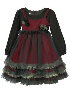 Isobella And Chloe Red and Gray Netting Dress Toddler Fashion, Toddler Outfits, Kids Outfits, Kids Fashion, Toddler Girls, Goth Baby Clothes, Doll Clothes, Little Girl Dresses, Girls Dresses