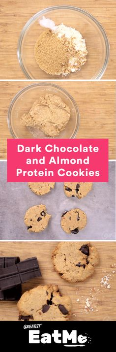 If only every cookie had this much protein. #healthy #protein #cookie #recipe http://greatist.com/eat/healthy-chocolate-chip-cookies-with-protein-recipe-video