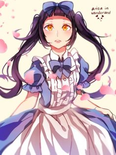 Image de alice in the wonderland, anime girl, and cute