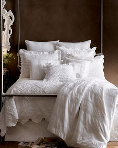 """""""Juliet"""" & """"Zella"""" Bed Linens by Pine Cone Hill at Horchow. KP might find this too frilly/girly but I love it."""