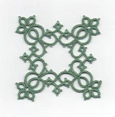 "Anne Orr's ""Classic Tatting Patterns"" with center left out. Love the diamond within the square"