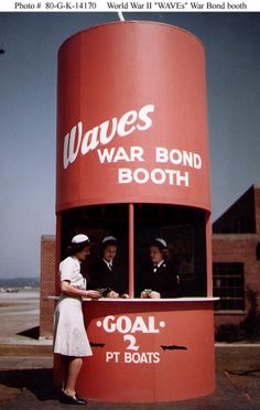 WAVEs War Bond booth
