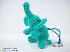 Chaveiro elefantinho amigurumi - http://www.tanlup.com/product/798228/elefante-amigurumi