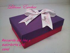 Caja rectangular en cartón corrugado para obsequio