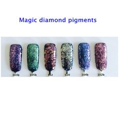 50g Diamond Pigments Irregular Flakes Shape Nail Glitter Magic Effect Powder for Cosmetics Nail Art Decoration Gel Nail Polish